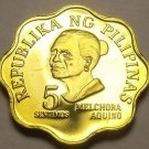 Philippines 1976 5 Sentimos Proof~Rare 9,901 Minted~Scalloped~Free Shipping