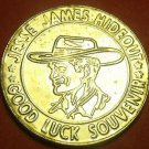 Jesse James Hideout Good Luck 28mm Medallion Stanton Missouri~Free Ship
