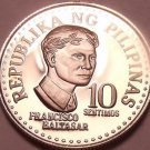 Rare Proof Philippines 1978 10 Sentimos~Only 4,872 Minted~Bank Seal~Free Ship