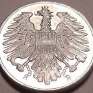 Austria 1965 2 Groschen Proof~Imperial Eagle~Free Shipping