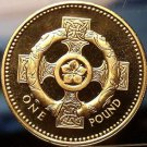 Gem Cameo Proof Great Britain 1996 Pound~Celtic Cross~Only 100,000 Minted~Fr/Shi
