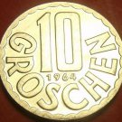 Proof Austria 1964 10 Groschen~Imperial Eagle~Free Ship