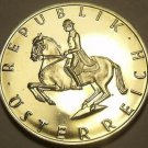 Proof Austria 1971 5 Schillings~Lippizaner Stallion~84,000 Minted~Free Shipping