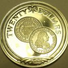 Silver Proof British Virgin Islands 1985 $20.00~Gold Escudo of 1733~Free Ship