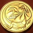 Australia 1977 2 Cents Gem Unc~Frill-Necked Lizard~Elizabeth II~Free Shipping