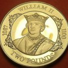 Extremely Rare Cameo Proof Guernsey 1988 2 Pounds~2,500 Minted~William II~Fr/Shi