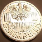 Proof Austria 1973 10 Groschen~Only 97,000 Minted~Imperial Eagle~Free Shipping