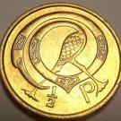 Ireland 1975 Half Penny Gem Unc~Neck Twisted Bird~Free Shipping
