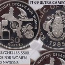 Seychelles 1985 50 Rupees~NGC PR-69 UC~U.N. Decade For Women~Rare 500 Minted~F/S