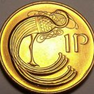 Gem Unc Ireland 1971 Penny~Irish Harp~Bird From The Book Of Kells~Free Shipping