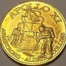 Apollo 11 Armstrong Aldrin Collins Manned Lunar landing Unc Medallion~Free Ship
