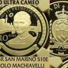 San Marino 2013R 10 Euros NGC PF-70 Ultra Cameo~Niccolo Machiavelli~Highest~Fr/S