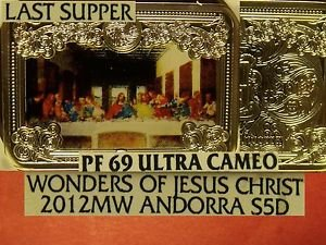 Andorra 2012MW 5 Diners~Davinci's Last Supper In Color~NGC PF UC~Highest Pop=1