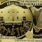 Ireland 2010 Silver 10 Euros~Presidents Award~NGC Proof 69 Ultra Cameo~Gaisce