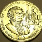 Gem Unc Liberia 2003 $10~George Washington 1st President Of The United States~FS