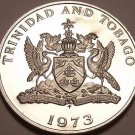 Rare Proof Trinidad & Tobago 1973 10 Cents~Only 20,000 Minted~Free Shipping