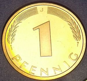 Germany 1976-J Pfennig Proof~Only 43,000 Minted~Minted In Hamburg~Free Shipping