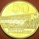 Paraguay 1998 50 Guaranies Gem Unc~Dam On The Acaray River~Last Year~Free Ship