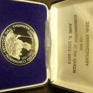 Cook Islands Boxed 20 Anniv Queen Coronation Silver 1973 2 Dollars Proof~Free Sh