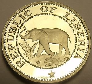 Proof Liberia 1976 5 Cents Proof~Rare Only 2,131 Minted~Elephant Coin~Free Ship