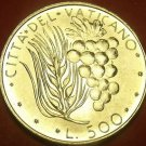 Vatican 500 Lire 1970 Gem Unc Silver~Rare 110,000 Minted~Wheat And Grapes~FR/Shi