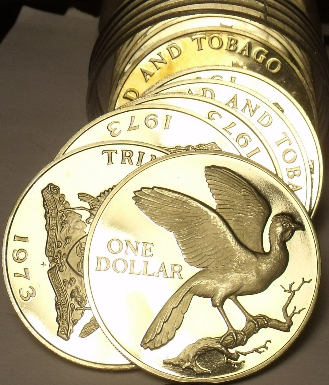 Rare Proof Roll (20) Trinidad & Tobago 1973 Dollars~Incredible~20,000 Minted~F/S