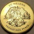 St. Helena 1977 25 Pence~Queens Silver Jubilee~Aldabra Giant Tortoise~Free Ship