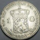 Netherlands 1923 Gulden Silver~Free Shipping