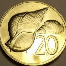 Cook Islands 1979 20 Cents Rare Proof~4,058 Minted~Pacific Triton Shells~Fr/Ship