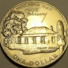 New Zealand 1977 Dollar Gem Unc~Waitangi Day~Treaty House~90,000 Minted~Free Shi