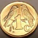 South Africa 1996 Cent Gem Unc~Sparrows~Only Year For Zulu Legend~Free Shipping