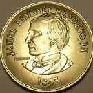 37.2mm James Pinkney Henderson~State Of Texas~1st Governor Of Texas~Medallion~FS
