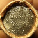 Gem Unc Original Roll (40) Portugal 1982 5 Escudos Coins~Ship~Free Shipping