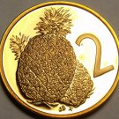 Cook Islands 1979 2 Cents Rare Proof~4,058 Minted~Pineapple~Free Shipping