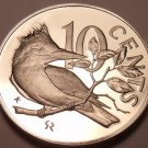 Rare Cameo Proof British Virgin Islands 1978 10 Cents~Kingfisher~7,059 Minted~FS