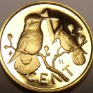 Rare Cameo Proof British Virgin Islands 1978 Cent~Hummingbird~7,059 Minted~Fr/Sh