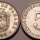Panama Uncirculated 1973 5 Centesimos~Eagle~Free Shipping