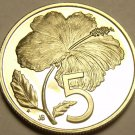 Cook Islands 1979 5 Cents Rare Proof~4,058 Minted~Hibiscus~Free Shipping