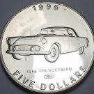Marshall Islands 1996 $5.00 Gem Unc~Henry Fords 1955 Thunderbird~Classic Cars~FS