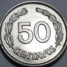 Ecuador 1963 50 Centavos~1st Year Ever~Free Shipping*