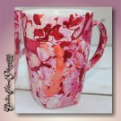 MARBLED - hand decorated coffee mug