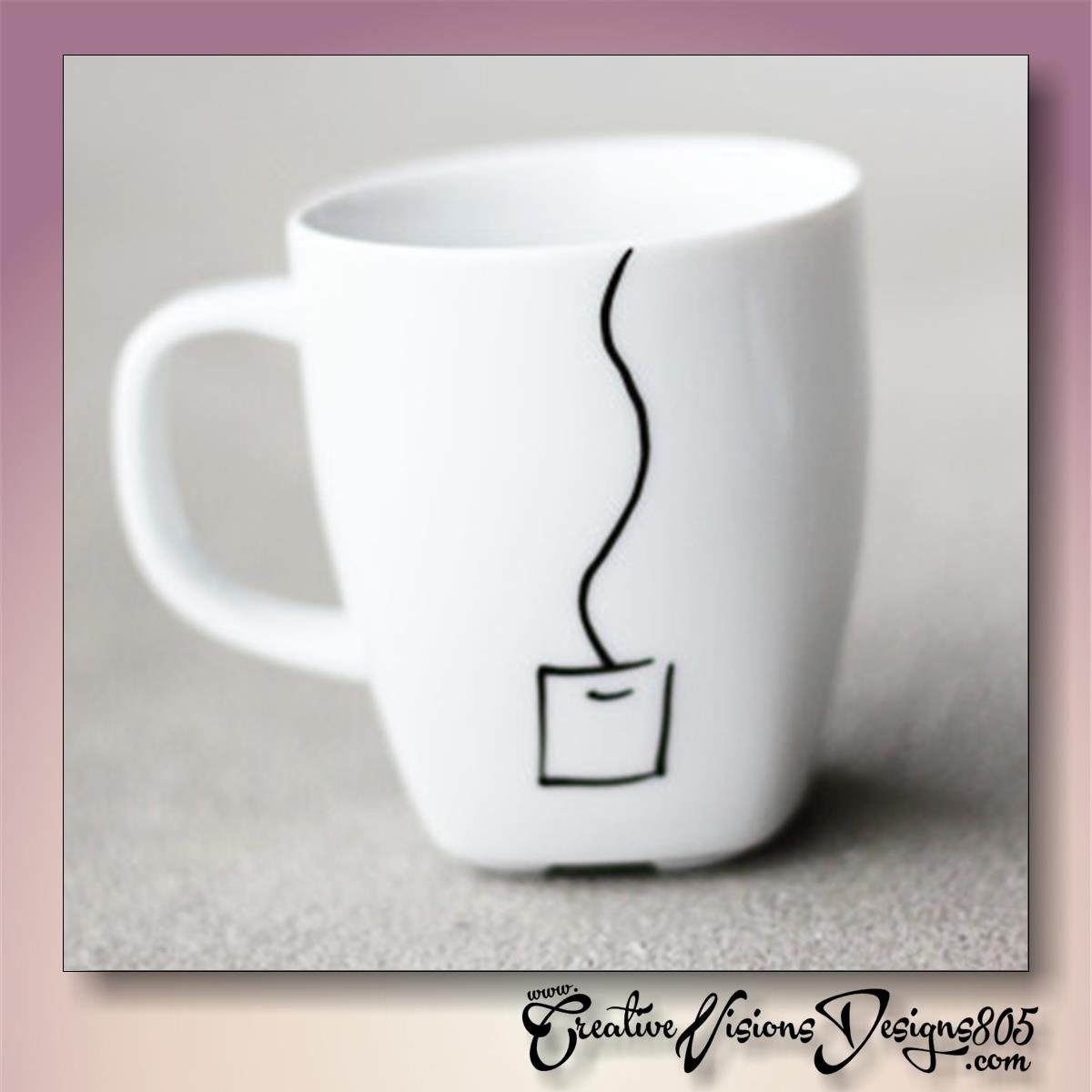 TEA TAG - hand decorated coffee mug