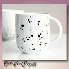 STRIPES AND DOTS - hand decorated coffee mug