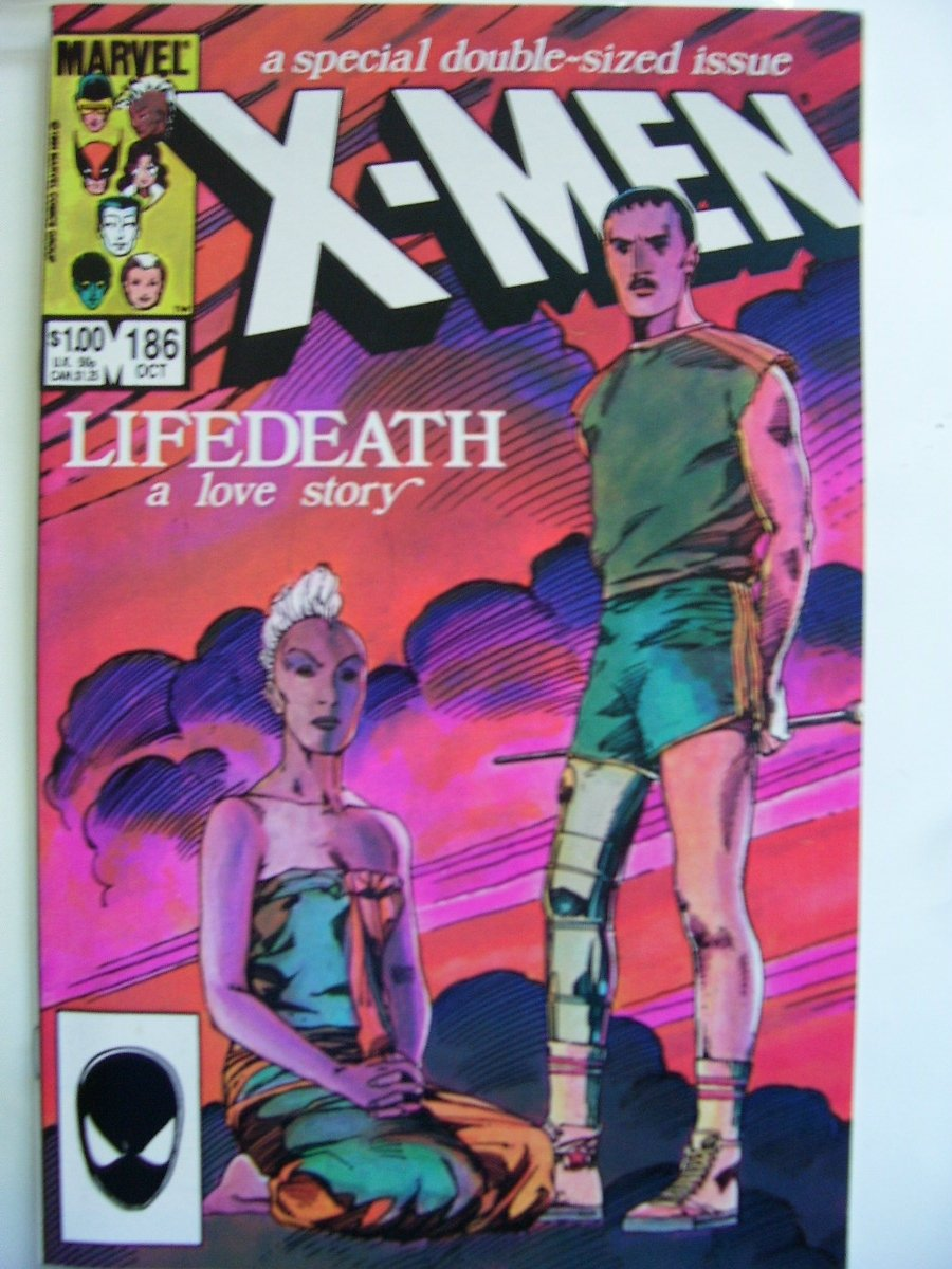 Uncanny X-men #186 LIfeDeath a love story Dbl-sz issue