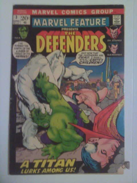 Doctor Strange #2 VS Defenders, Amazing Spider-man #109,Marvel Feature 3,