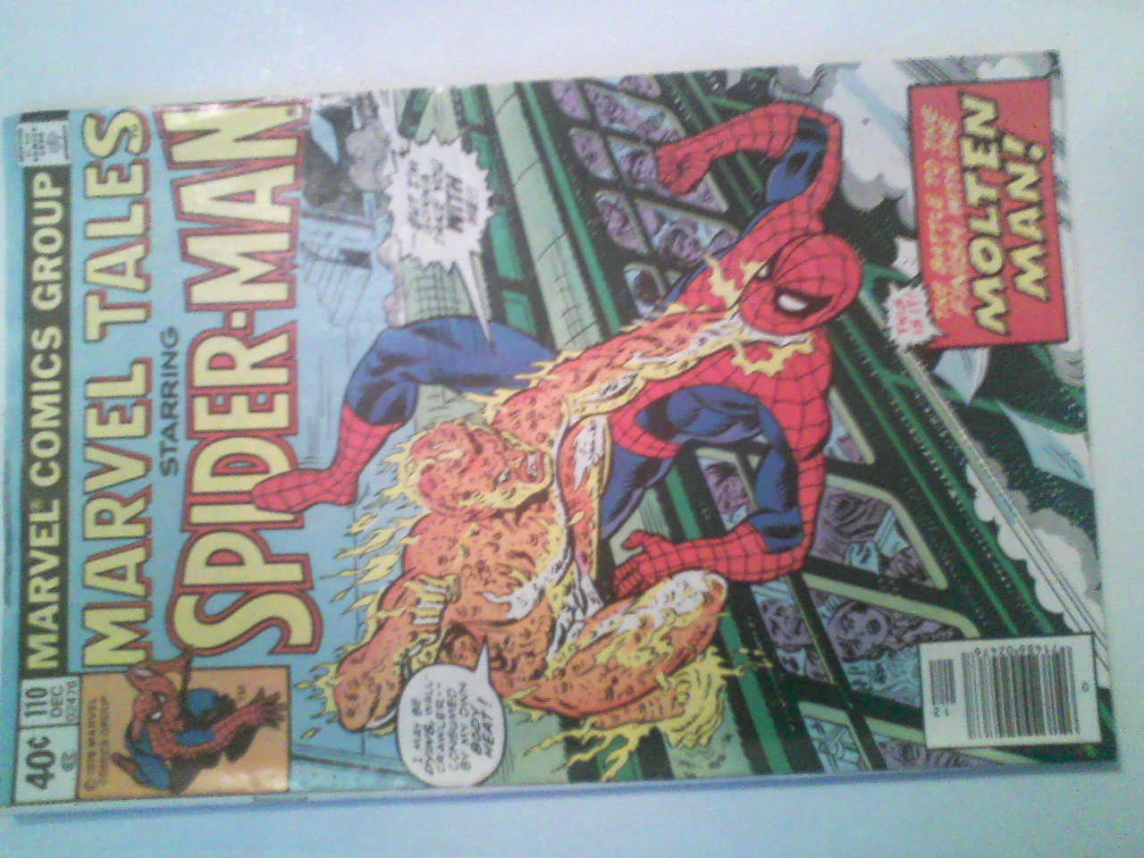 Marvel Tales #110 The battle to the finish with The Molten Man!