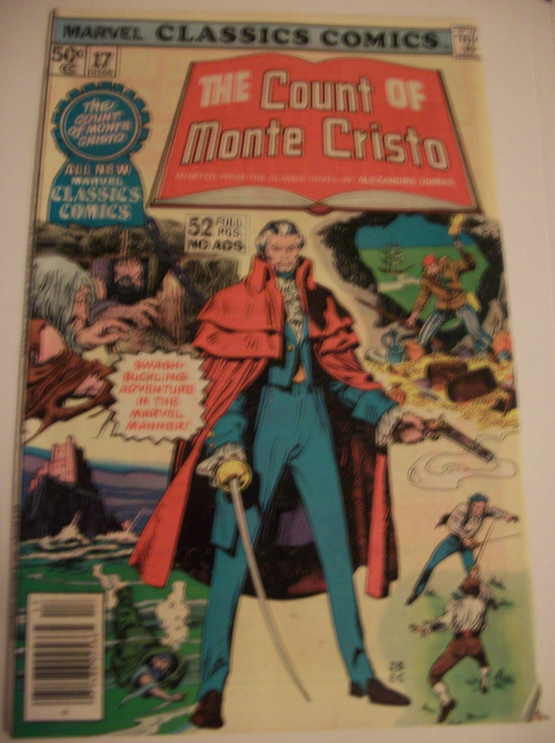 Marvel Classics Comics #17 The Count of Monte Cristo/Claremont 52 pages no Ads