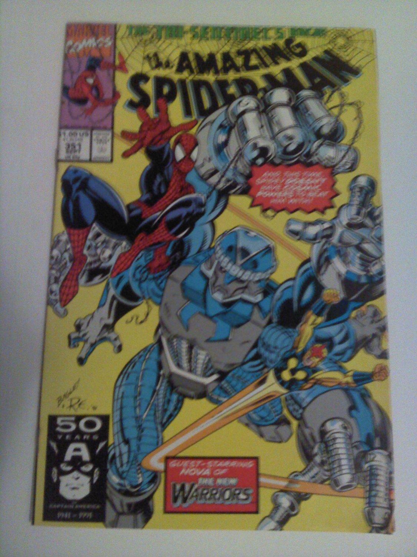 Amazing Spiderman #351 1st Bagley work on spiderman