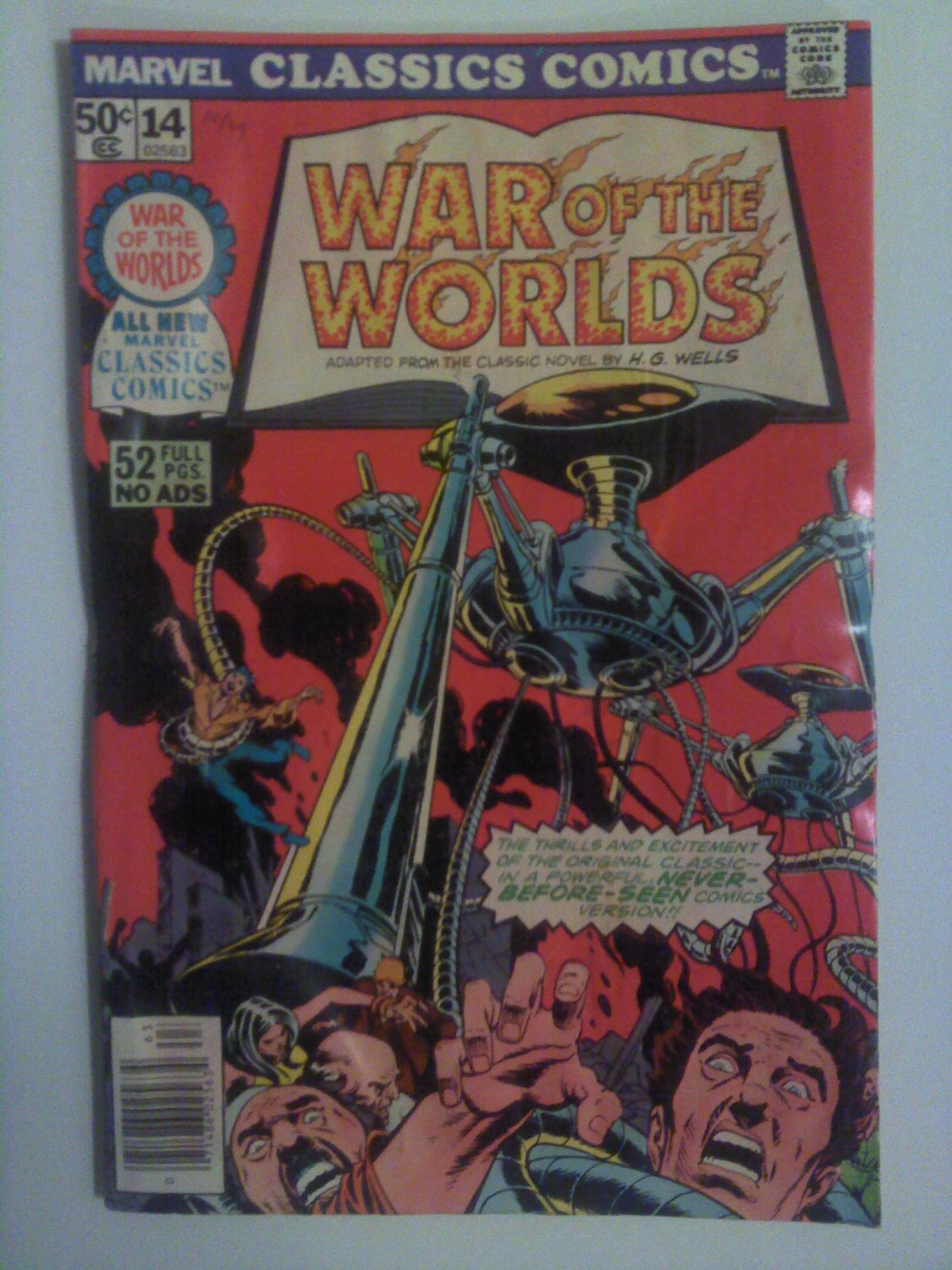 Marvel Classics Comics #14 War of the Worlds 52 pages no Ads