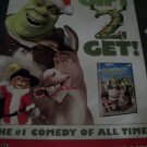 Shrek 2 DVD Poster Approx. 4 Feet by 5 feet 9 inches